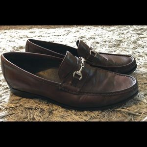 Mens Cole HaanCO9008 Leather Horsebit Loafer Shoes
